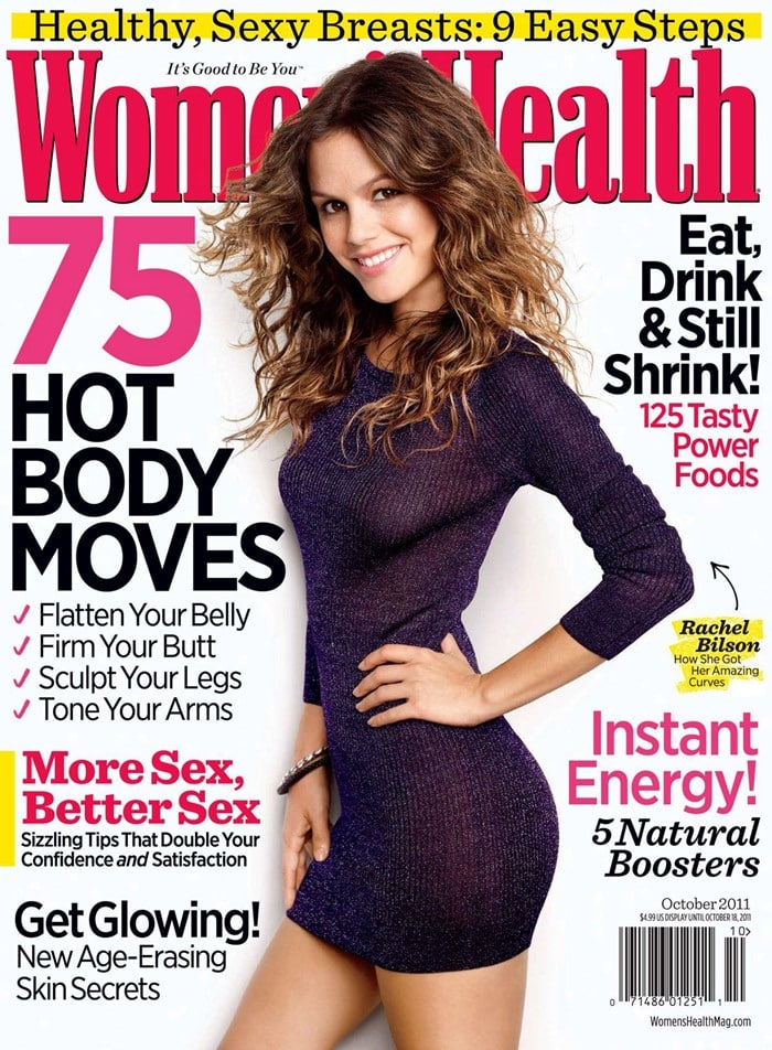 Rachel Bilson poses on the cover of the October 2011 Issue of Women's Health