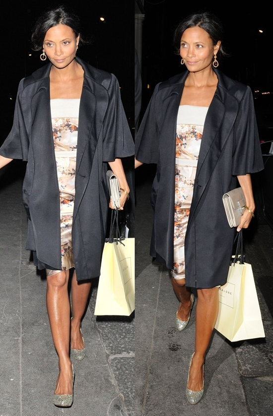 Thandie Newton attends a dinner celebrating Coach's 70th anniversary held at the Mayfair Arts Club in London, England on September 7, 2011