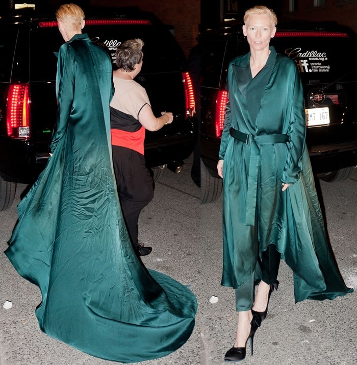 Tilda Swinton took us by surprise with this fashion shoe choice
