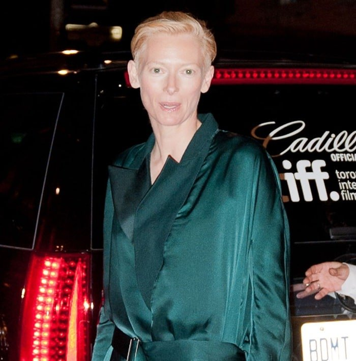 Tilda Swinton attends the 2011 Toronto Film Festival premiere of 'We Need To Talk About Kevin' in Toronto on September 9, 2011