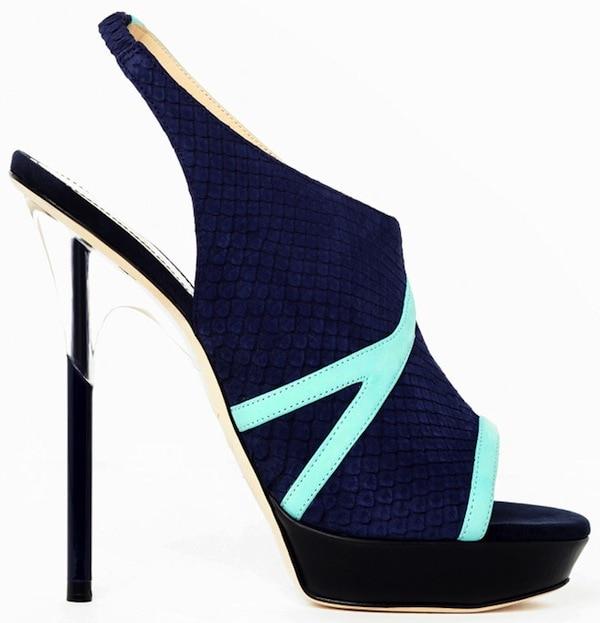Aperlai Blue Open Toe Sandals