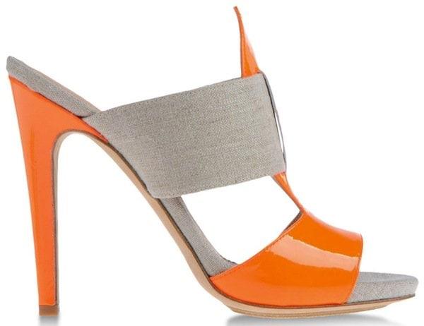 Aperlai Orange Platform Sandals