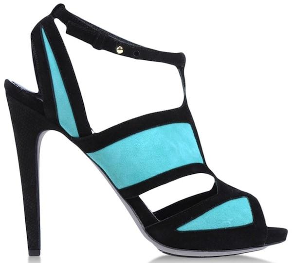 Aperlai Turquoise Platform Sandals