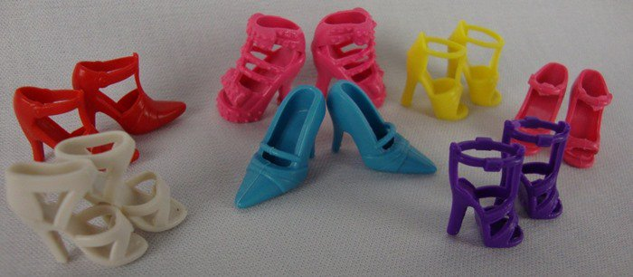 7 Pairs of Shoes Made to Fit The Fashion Doll