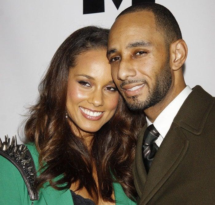 Alicia Keys and husband Swizz Beatz attend The Mountaintop Broadway opening night