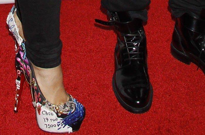 Alicia Keys rocks Christian Louboutin Daffodile Brodee pumps