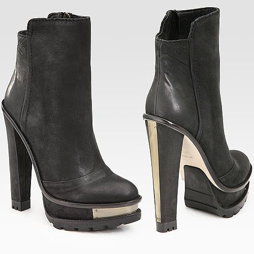 B Brian Atwood 'Taurasa' leather lug sole ankle boots