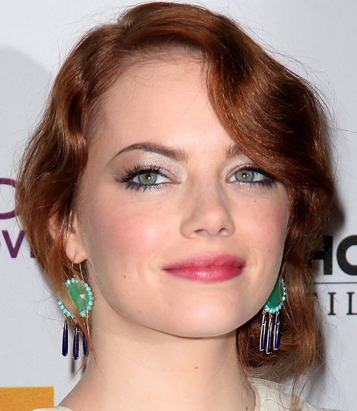 Emma Stone arrives at the 15th Annual Hollywood Film Awards Gala Presented By Starz held at The Beverly Hilton Hotel in Beverly Hills, Californiaon October 24, 2011