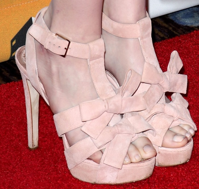 Emma Stone showing off her pretty toes inChristian Dior sandals