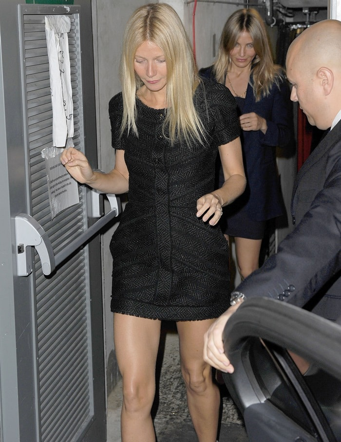Gwyneth Paltrow and Cameron Diaz attend The Art Club relaunching on Dover Street