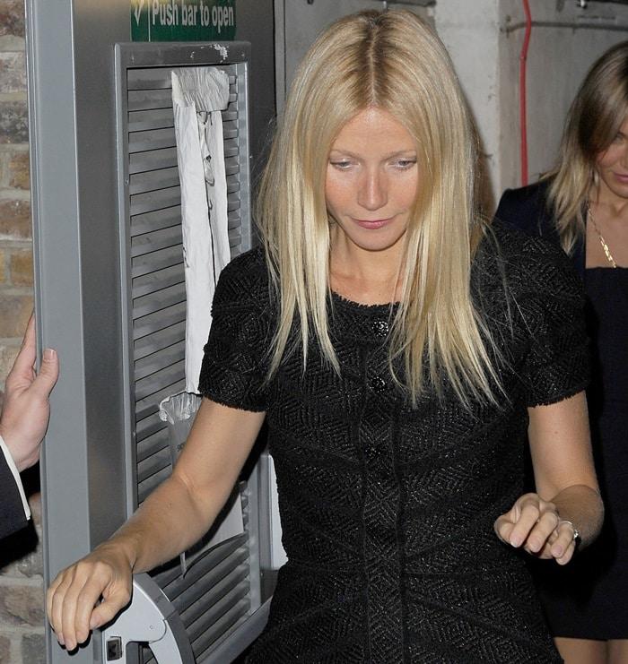 Gwyneth Paltrow rocked a Chanel Fall 2008 tweed mini-dress