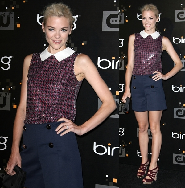 Actress Jaime King arrives at the The CW premiere party at Warner Bros. Studios on September 10, 2011 in Burbank, California
