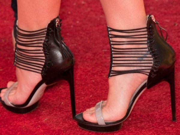 Jaime King rocking strappy Nicholas Kirkwood for Jason Wu heels