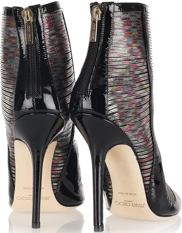 Jimmy Choo 'Kemp' Hologram Effect Patent Back