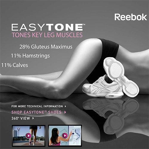 "Reebok EasyTone ad with claims that are ""outrageous"" according to the FTC"