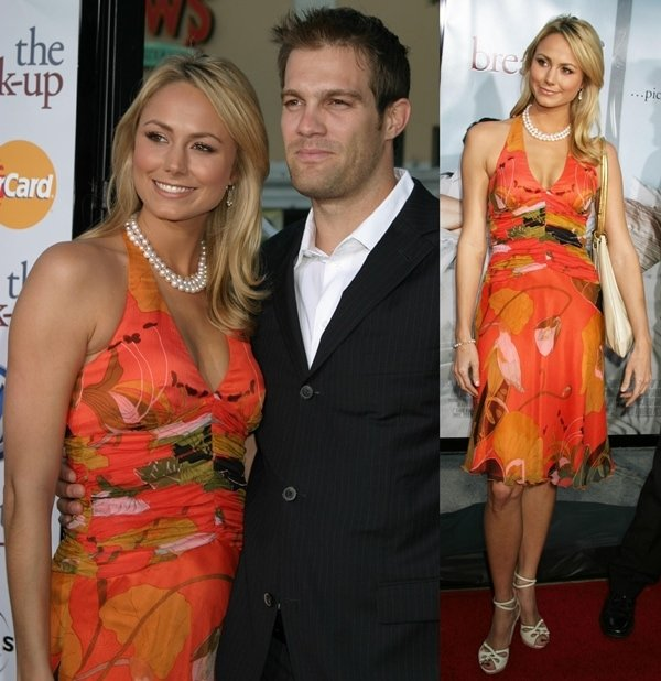 Stacy Keibler and Geoff Stults at the premiere of 'The Break-Up' at the Mann's Village Theater in Los Angeles on May 22, 2006