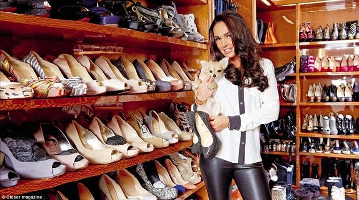 Tamara Ecclestone and her shoe collection