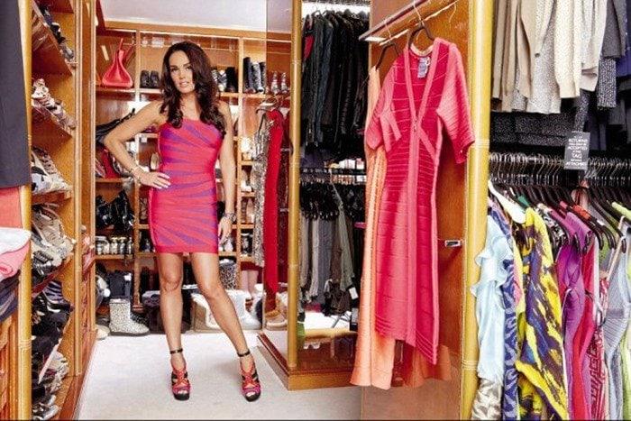 Tamara Ecclestone inside her walk-in wardrobe