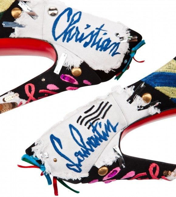 Christian Louboutin outdid himself once again for the Daffodile Brodee is such a work of art