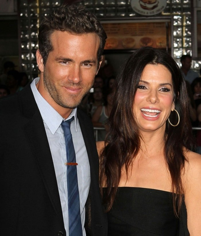"""Actor Ryan Reynolds was surprised by his good friend Sandra Bullock at the Los Angeles Premiere """"The Change-Up"""""""