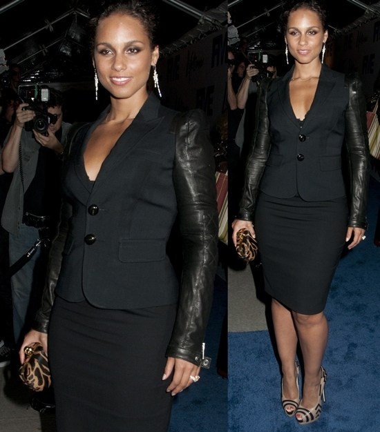 Alicia Keys attends the screening of 'Five' with Jennifer Aniston and Demi Moore at Skylight Soho in New York City on September 26, 2011