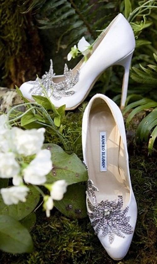 Bella Swan's white Manolo Blahnik bridal shoes