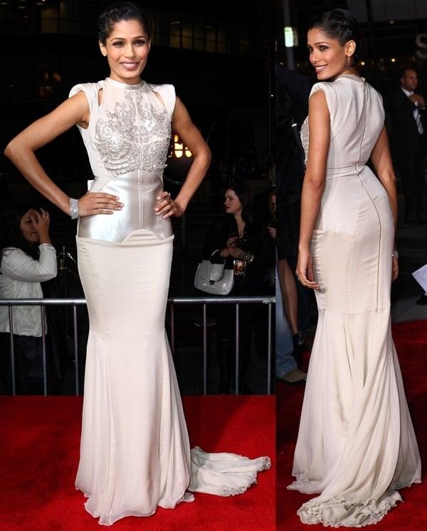 Freida Pinto's jaw-dropping Antonio Berardi dress
