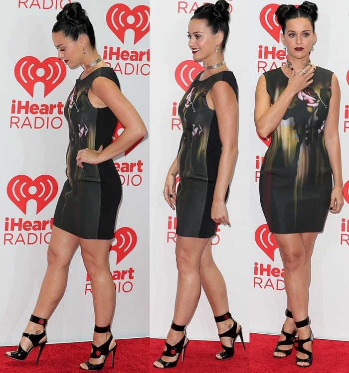 Katy Perry at the red carpet of the iHeartRadio Music Festival held at the MGM Grand Garden Arena in Las Vegas, Nevada, on September 20, 2013