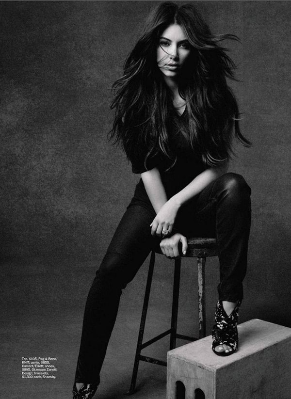 Kim Kardashian in the December Issue of Marie Claire Magazine wearing Giuseppe Zanotti heels
