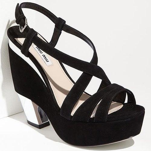 Miu Miu strappy wedge platform sandal