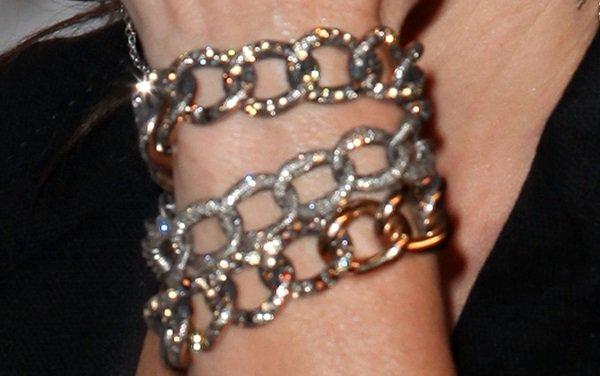 Sandra Bullock wears a Pomellato bracelet