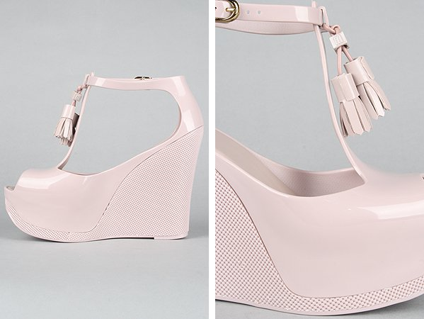 Melissa Shoes 'Peace' Wedge in Cream
