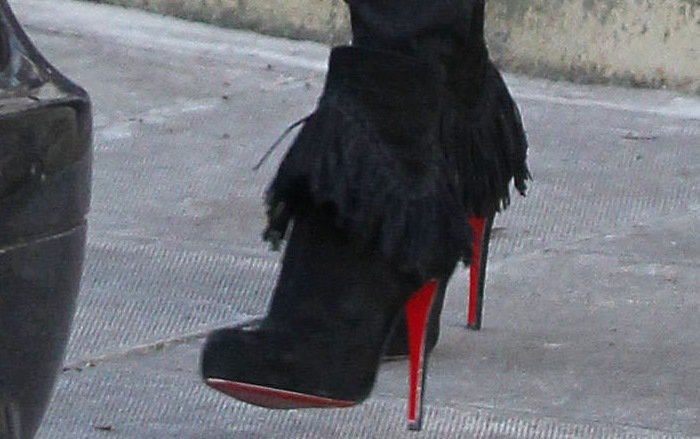Kate Moss rocks Christian Louboutin's Rom booties