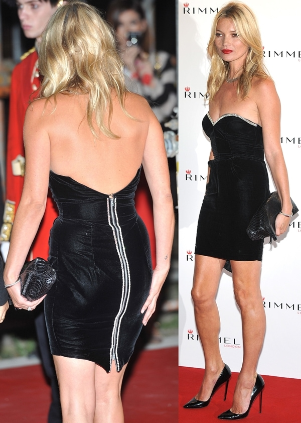 Kate Moss flaunts her legs at the Rimmel London party held at Battersea Power Station in London, September 15, 2011