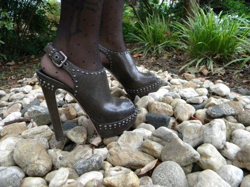 Cortnie and her favorite studded Prada slingbacks