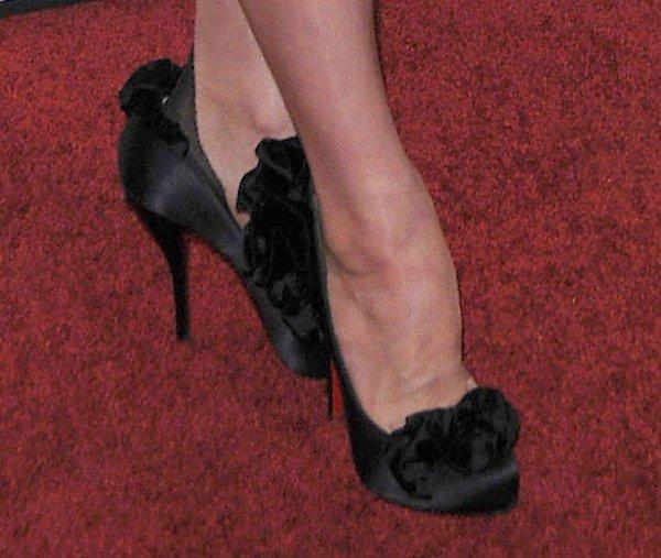 Dita Von Teese's feet in Christian Louboutin pumps