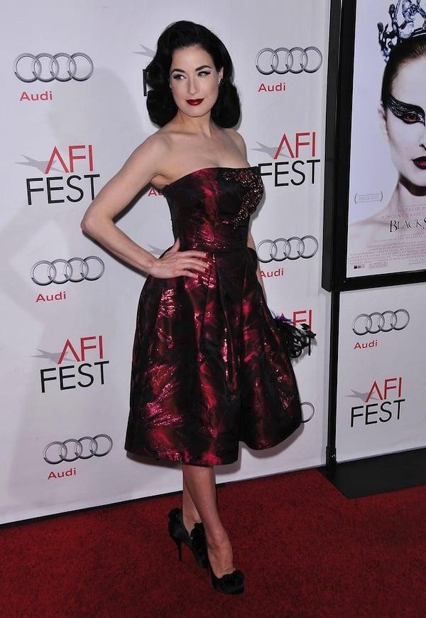 "Dita Von Teese attends the AFI Fest 2010 Closing Night Gala Screening of ""Black Swan"""