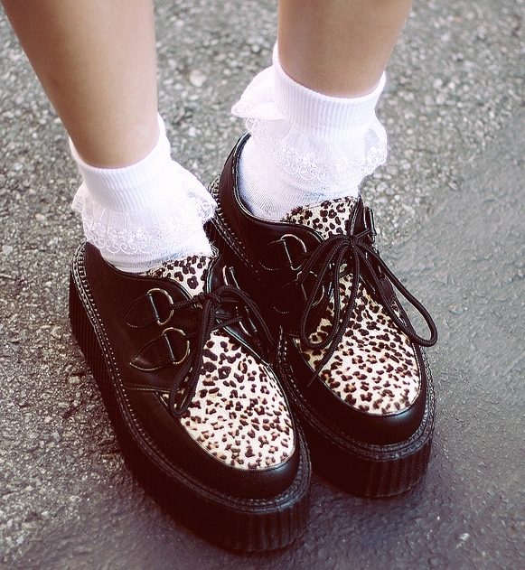 Willabelle's Romwe pony hair creepers