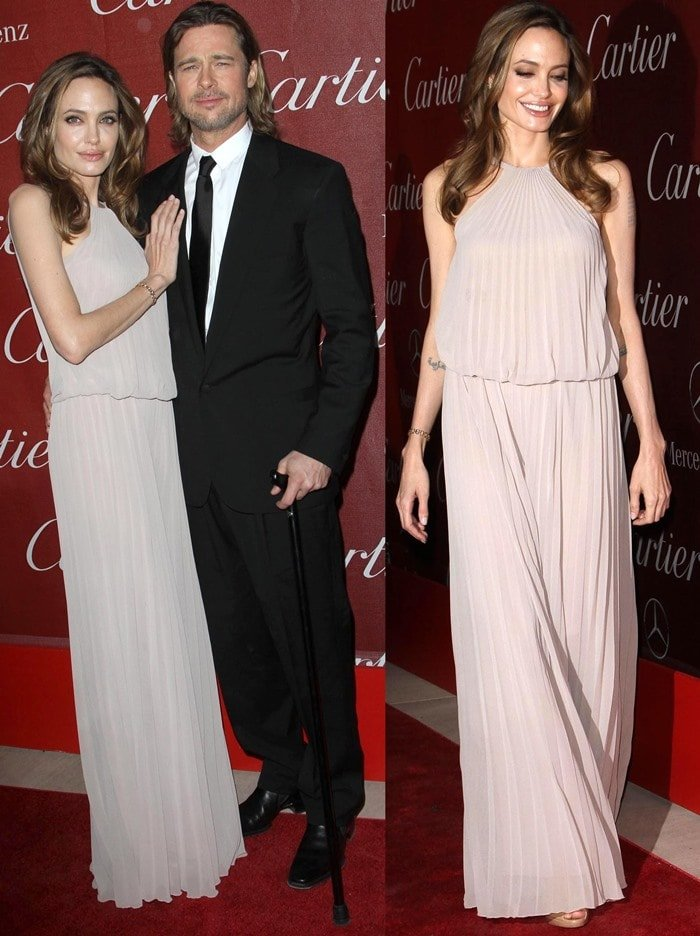 Angelina Jolie and Brad Pitt at the 23rd annual Palm Springs International Film Festival Awards Gala