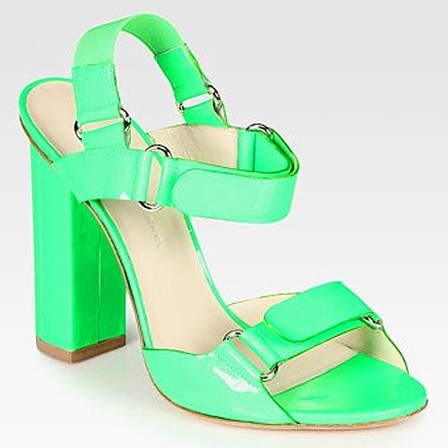 Christopher Kane patent leather slingback sandals