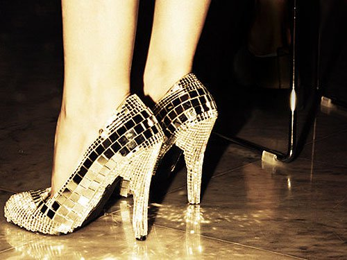 Disco ball shoes!