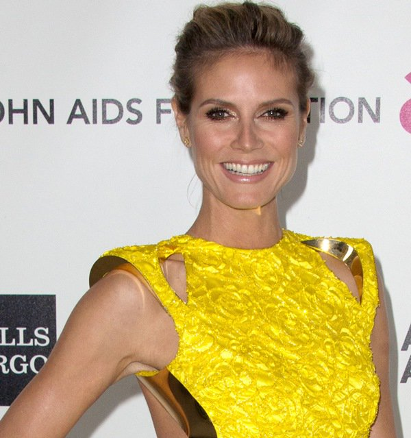 Heidi Klum at the 20th Annual Elton John AIDS Foundation's Oscar Viewing Party held at West Hollywood Park in Los Angeles on February 26, 2012