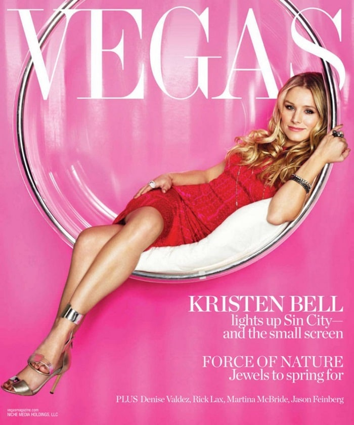 Kristen Bell on the February cover of Vegas Magazine