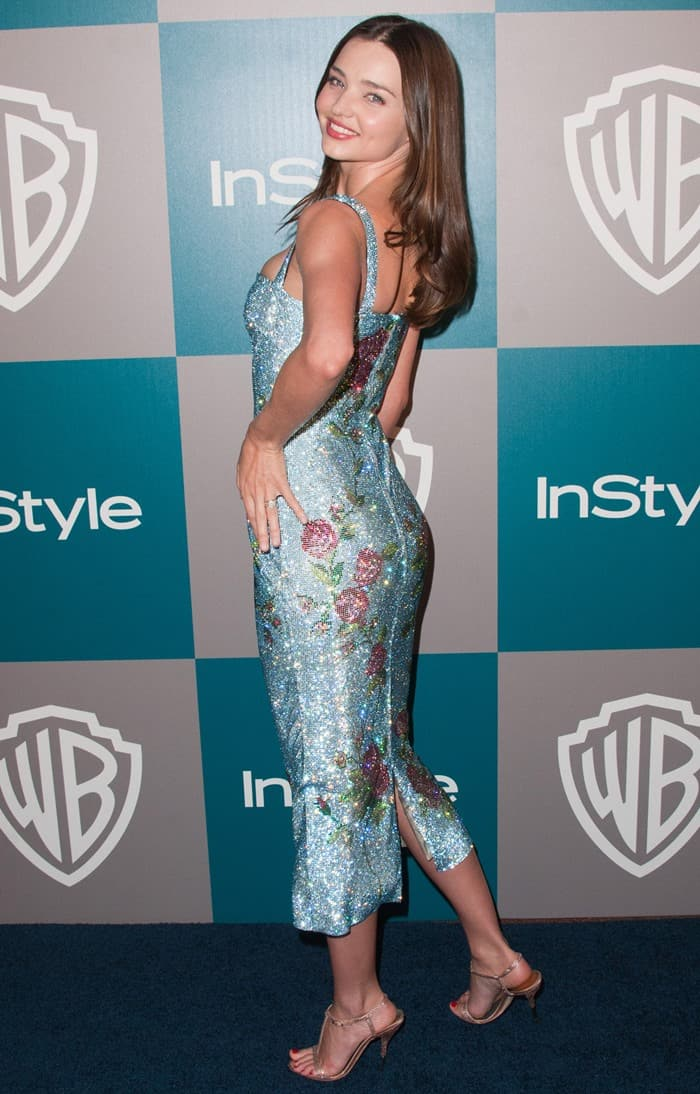 Miranda Kerr at the 69th Annual Golden Globe Awards (Golden Globes 2012) 13th Annual Warner Bros and InStyle After Party at The Beverly Hilton Hotel in Los Angeles on January 15, 2012