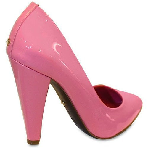 Mulberry Pink 100mm Signature Patent Pumps