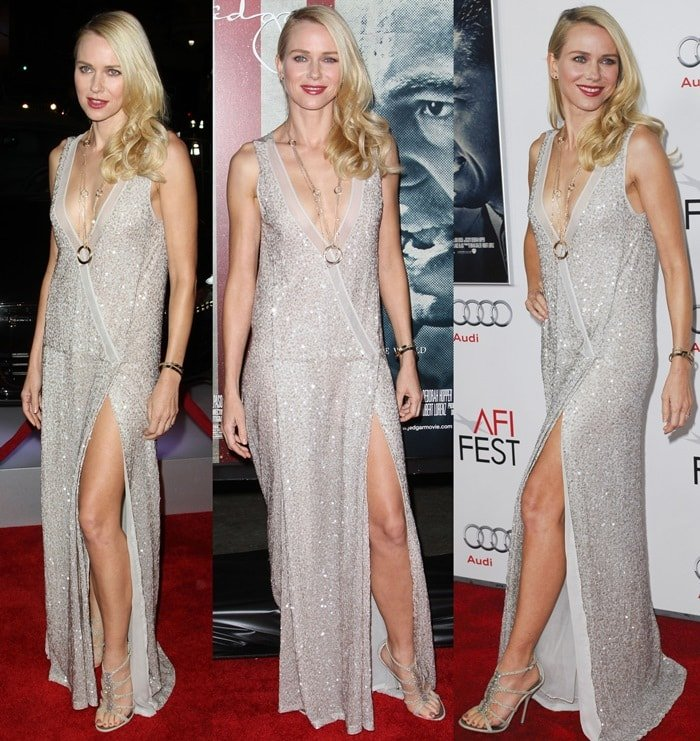 Naomi Watts' paraded her legs at the 'J. Edgar' premiere at the 2011 AFI Fest Opening Night Gala at Grauman's Chinese Theatre on November 3, 2011