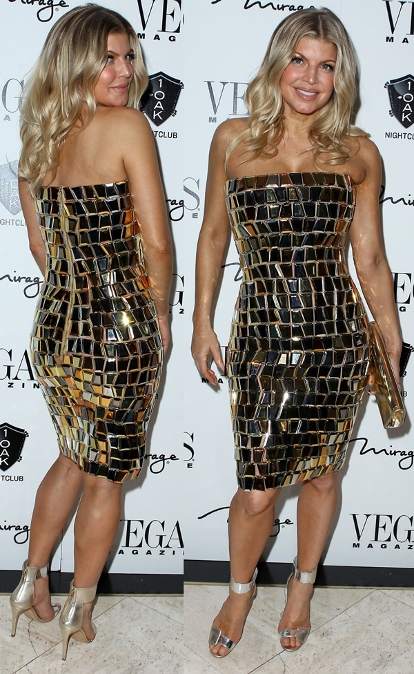 Fergie aka Stacey Ferguson at the New Year's Eve party at 1 OAK at The Mirage Hotel and Casino in Las Vegas on December 31, 2011