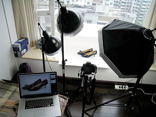 Professionally photographing shoes