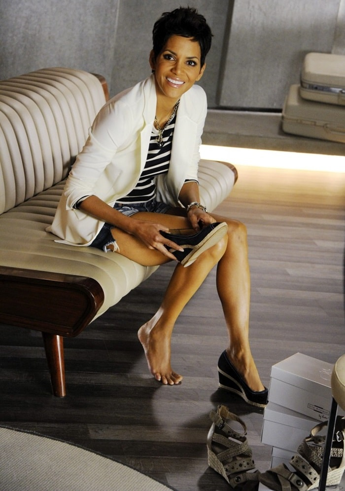 Halle Berry's photoshoot for her 5th Avenue by Halle Berry shoe collection