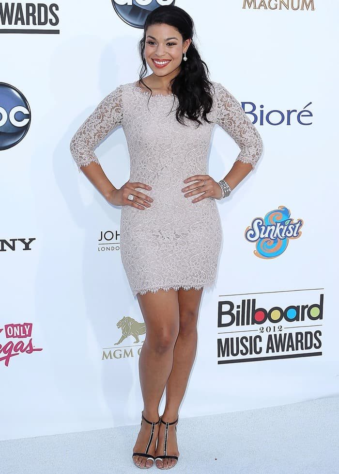 Jordin Sparks hit the red carpet at the 2012 Billboard Music Awards